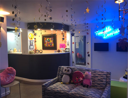 Reception Area for Twinkle Dentist in New York