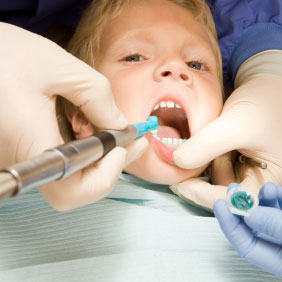 Child having teeth cleaned at Twinkle Dentist in New York