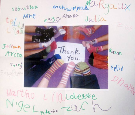 sign with signatures and photo at Twinkle Dentist